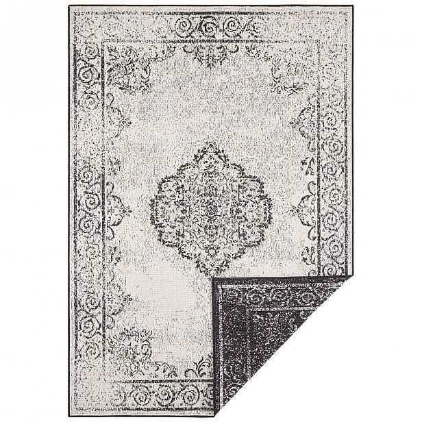 Černo-krémový venkovní koberec Bougari Cebu, 200 x 290 cm