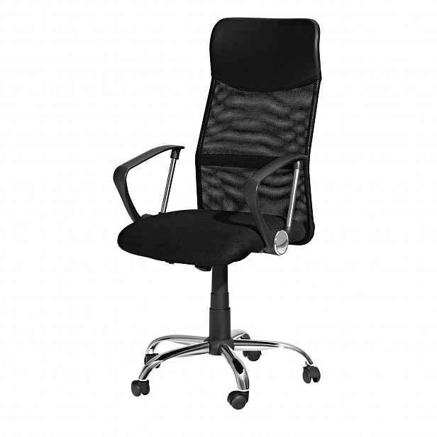 Kancelářské křeslo Prezidento1, černá barva - 50 cm