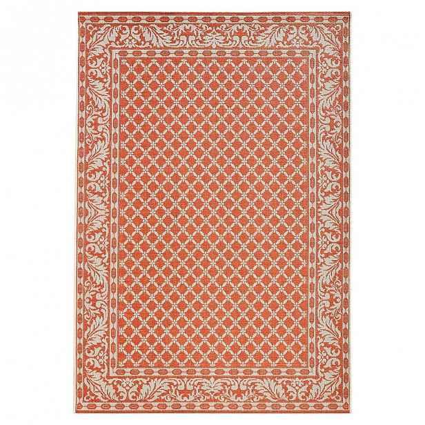 Oranžovo-krémový venkovní koberec Bougari Royal, 160x230cm