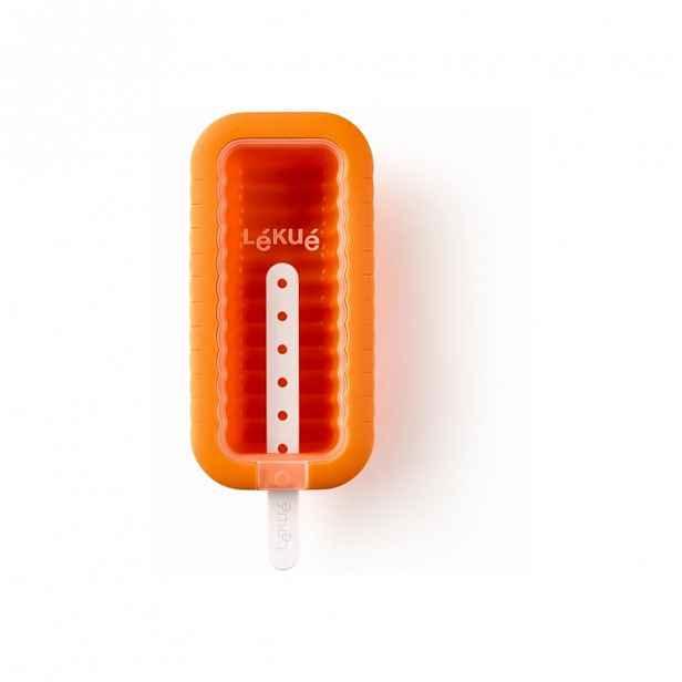 Oranžová silikonová forma na zmrzlinu Lékué Iconic