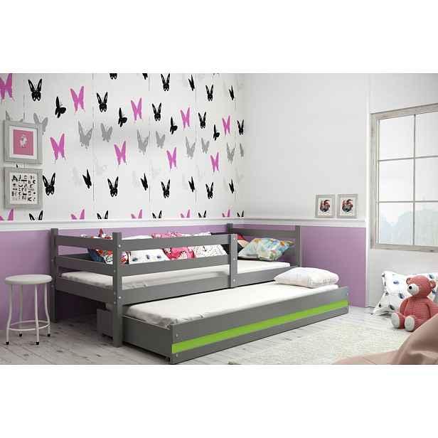 Dětská postel pro 2 děti Elza + matrace ZDARMA! Elza : Dekor Grafit/bílá HELCEL