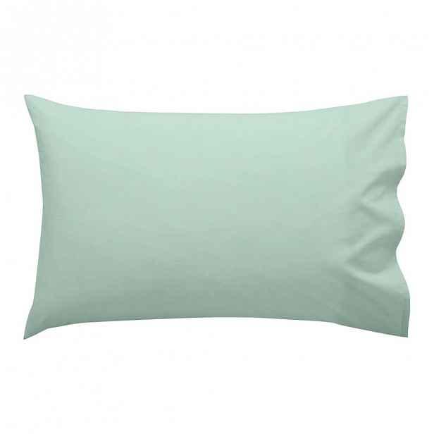 Světle zelený bavlněný povlak napolštář Happy Friday Basic, 50x30cm