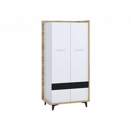 Box 10 – Skříň 2D, dub sonoma/bílá/černá