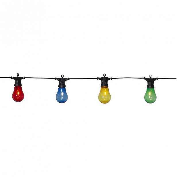 Venkovní světelný party LED řetěz s barevnými žárovkami Best Season Circus, 10 světýlek