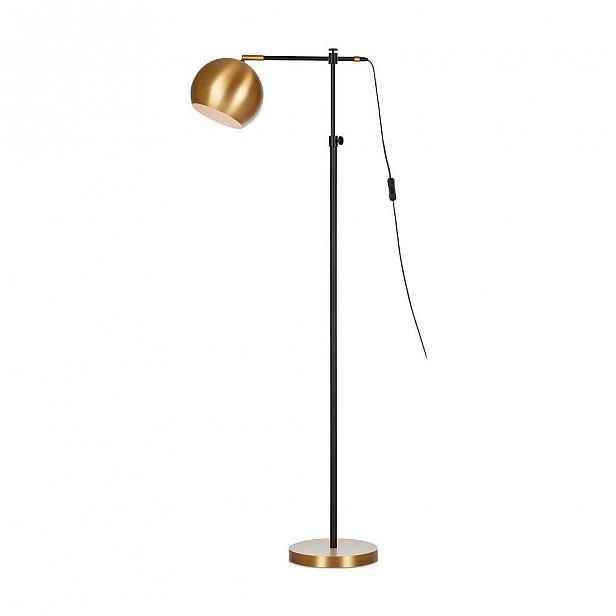 Černo-bronzová volně stojící lampa Markslöjd Chester