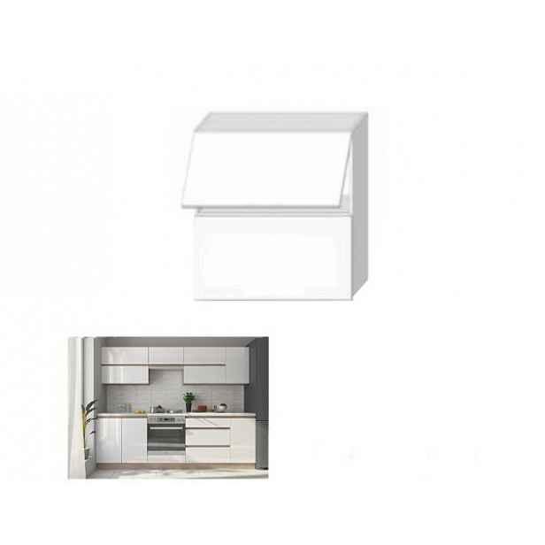 Skříňka horní dvoudveřová, bílý vysoký lesk HG, LINE WHITE