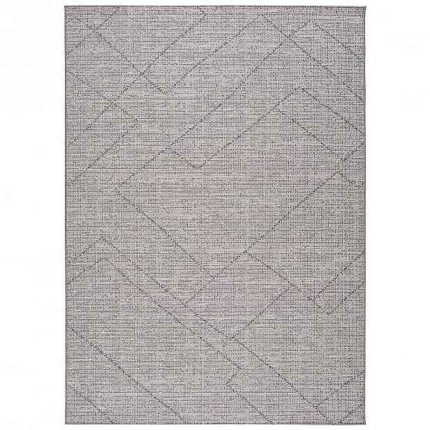 Šedý venkovní koberec Universal Macao Grey Amelia, 80x150cm