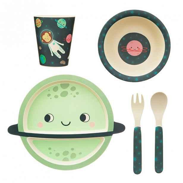 5dílná sada dětského nádobí a příborů Sass & Belle Space Explorer