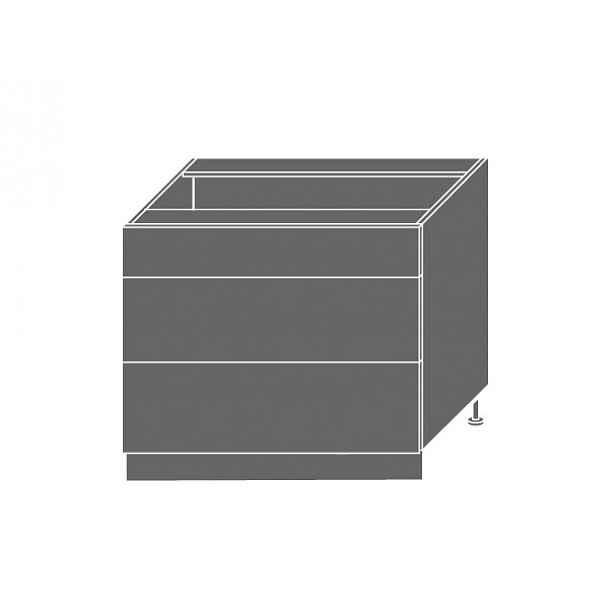 PLATINUM, skříňka dolní D3A 90, korpus: grey, barva: vanilla