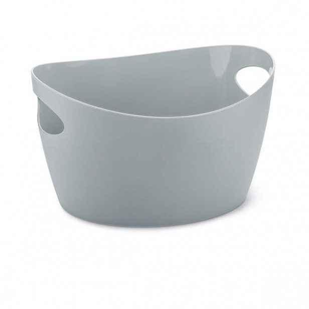 Plastový obal/džber BOTTICHELLI S šedý 13cm
