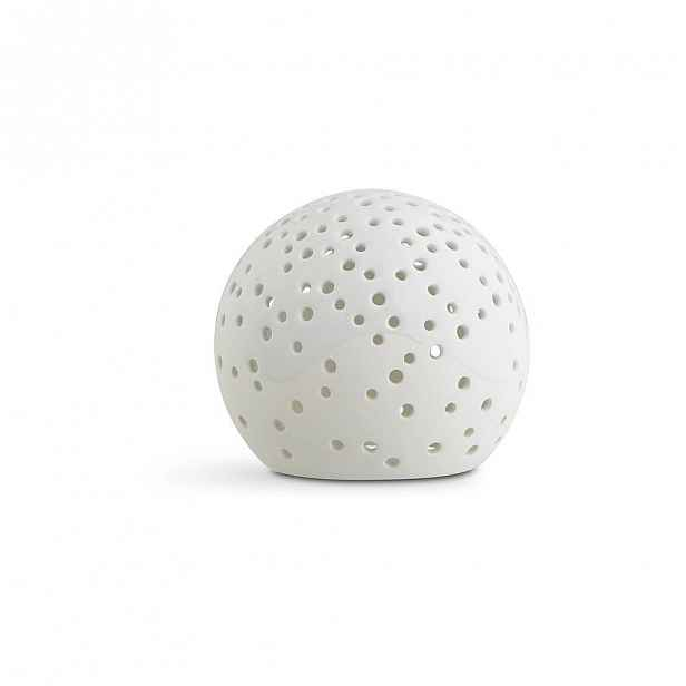 Bílý vánoční svícen z kostního porcelánu Kähler Design Nobili, ⌀ 12 cm
