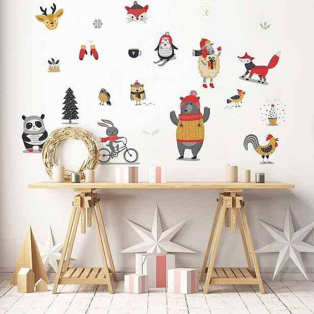 Vánoční samolepka Ambiance Christmas Animals
