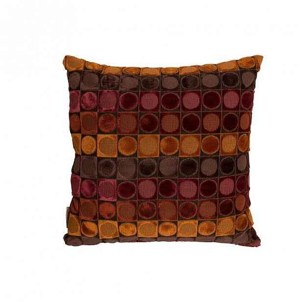 Červeno-oranžový polštář Dutchbone Ottava, 45x45cm