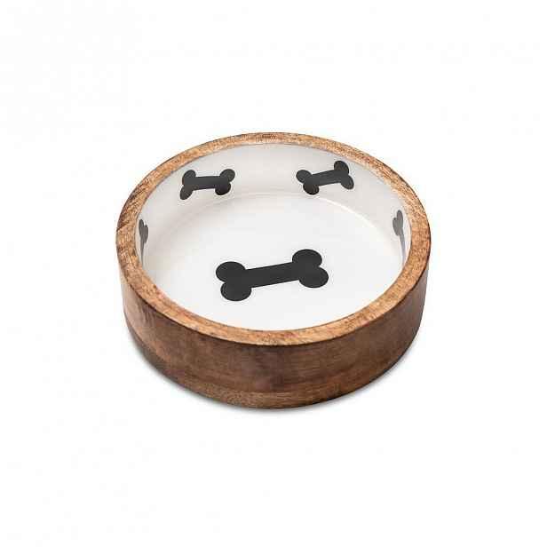 Dřevěná miska pro psy Marendog Bowl, ⌀ 13 cm