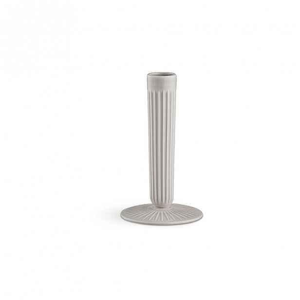 Světle šedý kameninový svícen Kähler Design Hammershoi, výška 16 cm
