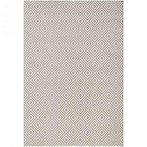 Šedý koberec vhodný do exteriéru Bougari Karo, 160x230cm