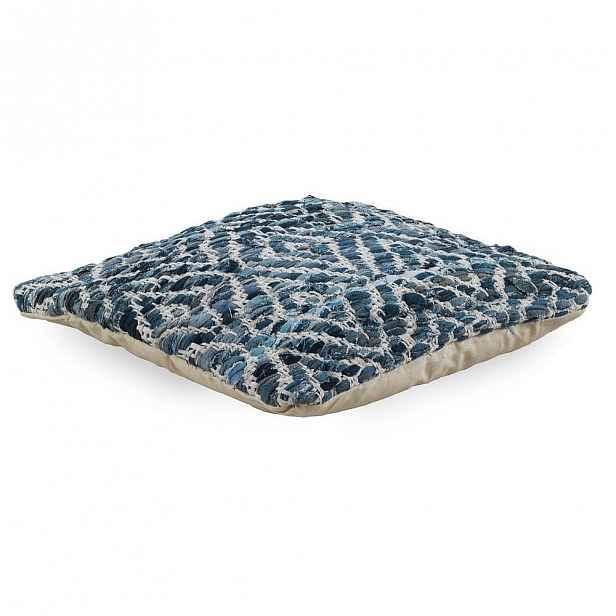 Modrý polštář s výplní 45x 45 cm