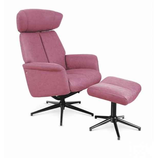 Relaxační křeslo s ubrusem Viva pink