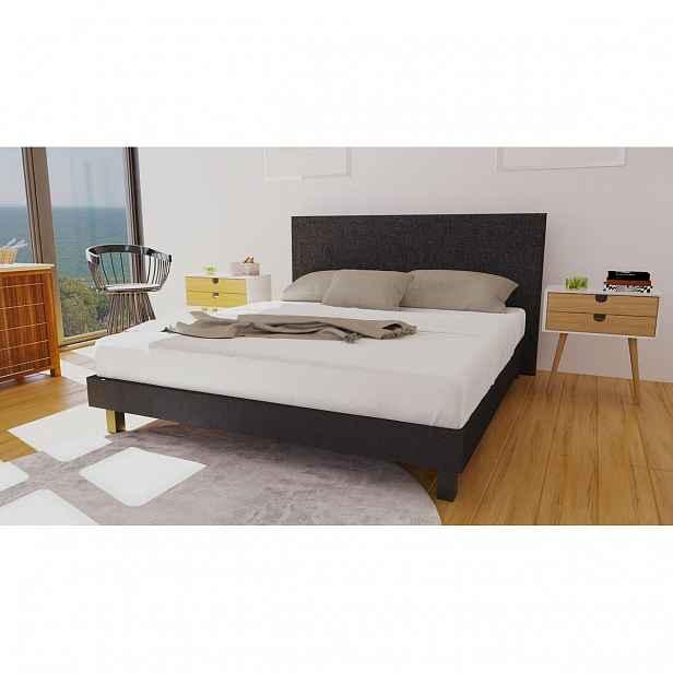 Enzio KANSAS Boxspring Standard 180 x 200 cm Savana Grey kontinentální čalouněná postel