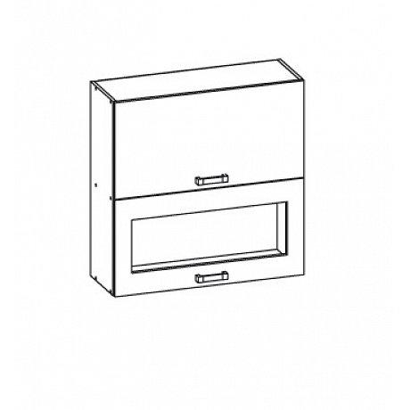 EDAN horní skříňka G2O 60/72, korpus bílá alpská, dvířka dub reveal