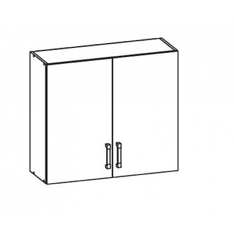 EDAN horní skříňka G80/72, korpus bílá alpská, dvířka dub reveal