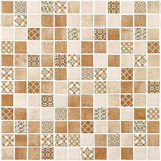 Skleněná mozaika Riviere cotto 30x30 cm mat DRIVIERECO