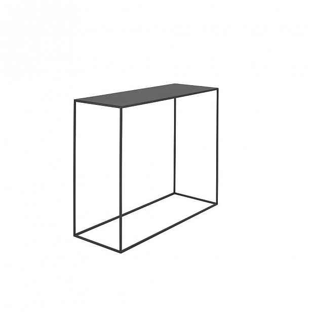 Černý konzolový kovový stůl Custom Form Tensio, 100 x 35 cm