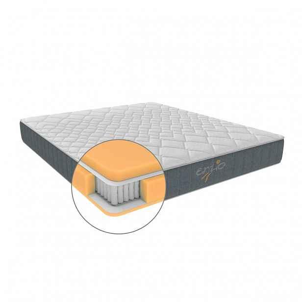 Enzio HOUSTON 200 x 200 x 28 cm vysoká matrace s kombinací studené pěny a kvalitních pružin