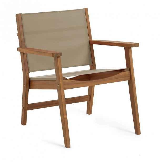 Zahradní židle z akáciového dřeva s polstrováním La Forma Hilda