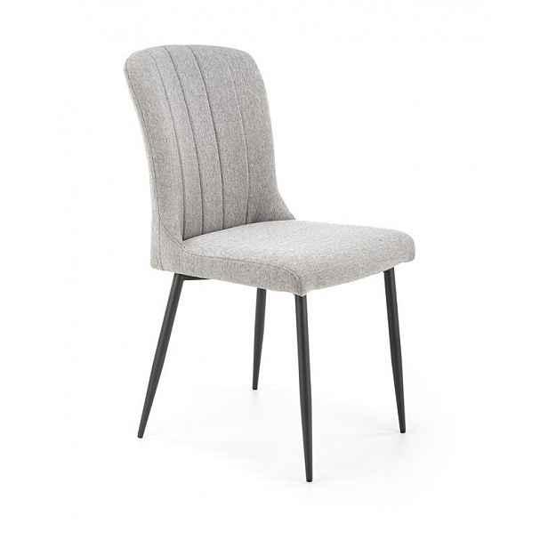 Jídelní židle šedá / černá - výška: 91 cm