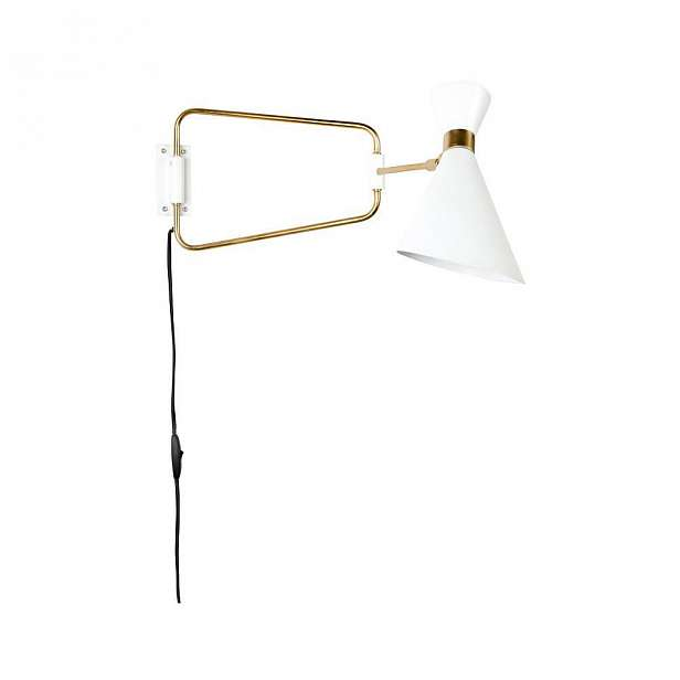 Bílá nástěnná lampa Zuiver Shady