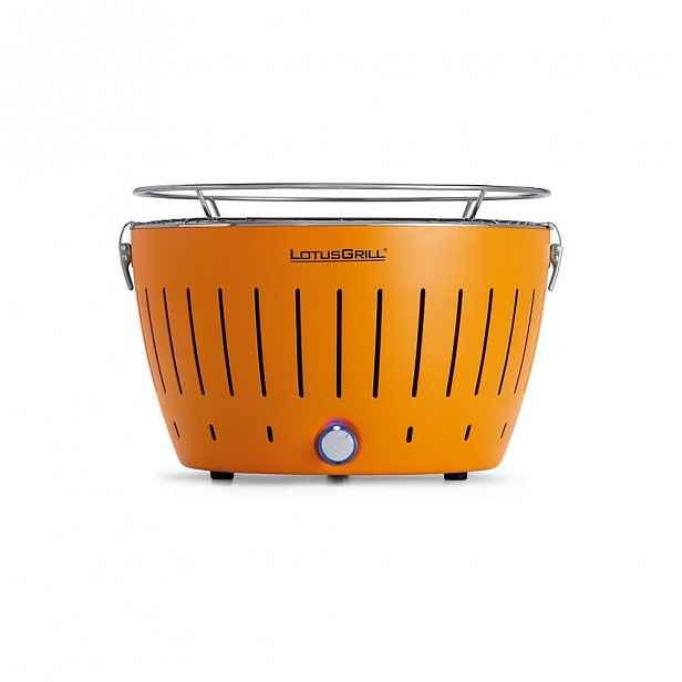 Oranžový bezkouřový gril LotusGrill