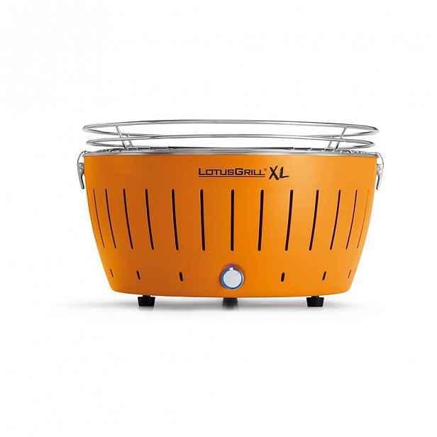 Oranžový bezkouřový gril LotusGrill XL