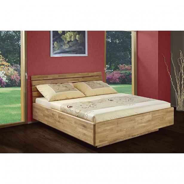 ProSpánek Air 180 x 200 cm dub D1 postel z dubového masivu s úložným prostorem