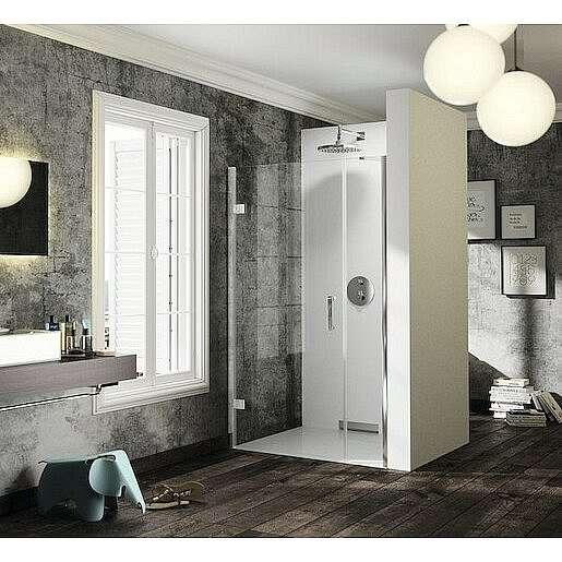 Sprchové dveře 100x200 cm levá Huppe Solva pure chrom lesklý ST2903.092.322