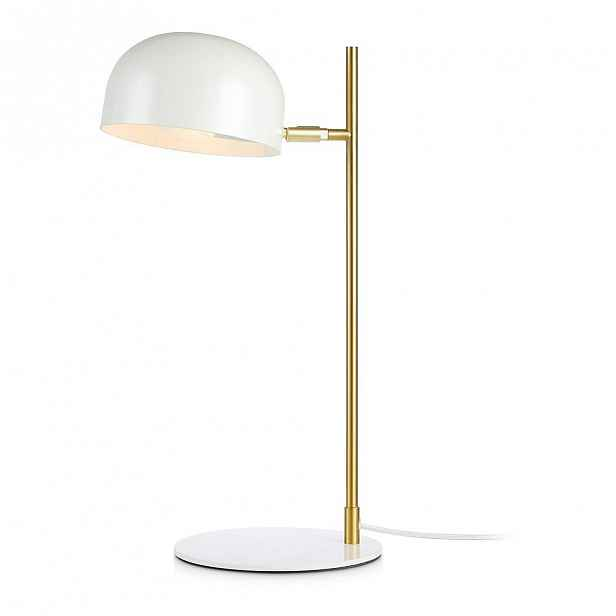 Bílá stolní lampa se stojanem v měděné barvě Markslöjd Pose Table 1L