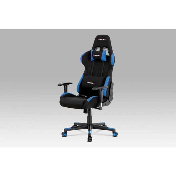 Kancelářská židle KA-F02 BLUE modrá / černá Autronic