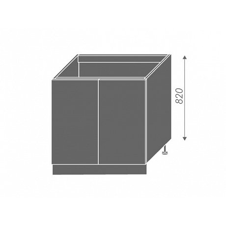 PLATINUM, skříňka dolní dřezová D8z 80, korpus: grey, barva: vanilla
