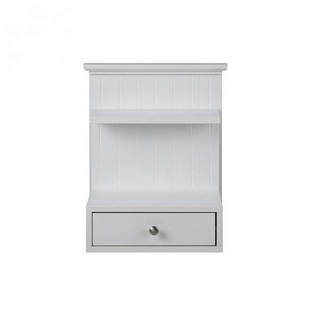Nástěnný bílý noční stolek s 1 šuplíkem Actona Linnea