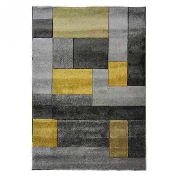 Šedo-žlutý koberec Flair Rugs Cosmos, 200 x 290 cm