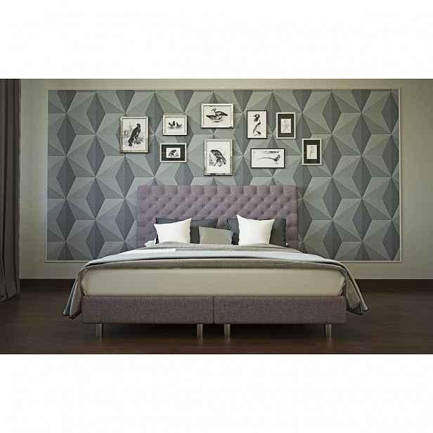 Enzio AUSTIN Boxspring Standard 180 x 200 cm Bahama Plum kontinentální čalouněná postel