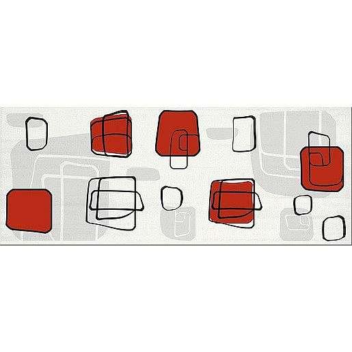 Dekor Fineza Fresh cube red 20x50 cm lesk DFRESHRE