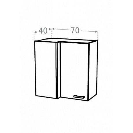 KAMDUO, horní skříňka roh. DUO WRP7x4 levá, d.s.