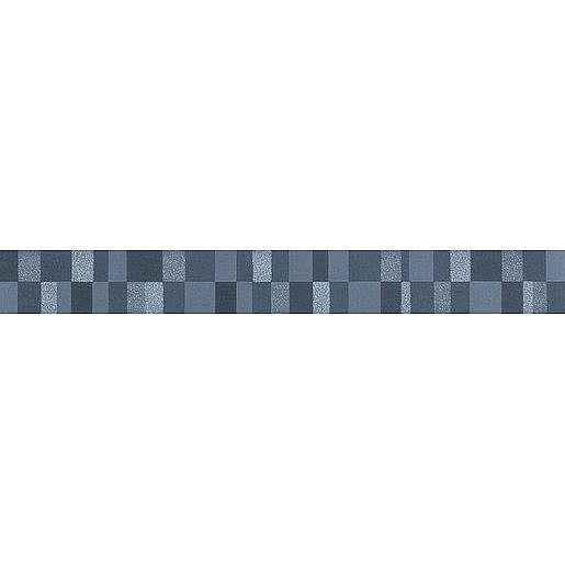 Listela Rako Up tmavě modrá 5x40 cm pololesk WLAMH511.1