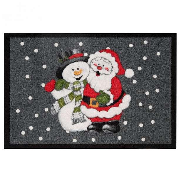 Rohožka Hanse Home Santa and Snowman, 40x60 cm