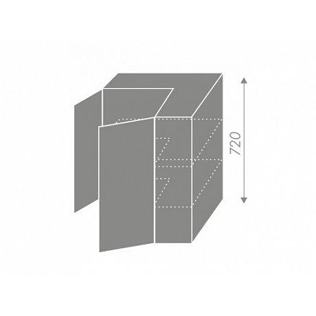 SILVER+, skříňka horní rohová W12 60, korpus: bílý, barva: sonoma