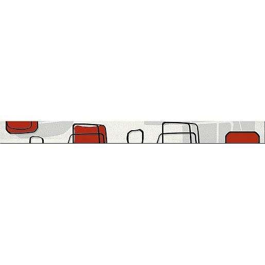 Listela Fineza Fresh cube red 5x50 cm lesk LFRESHRE
