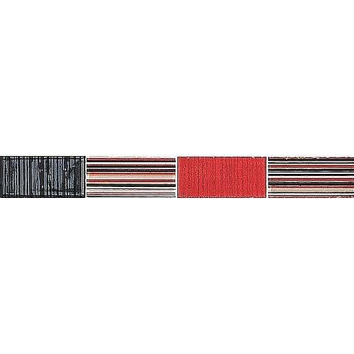 Listela Stylnul Nirvana rojo 3x25 cm lesk LNIRVANARO