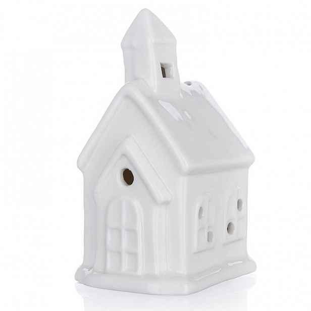 Svítící LED domeček KOSTEL, bílé světlo