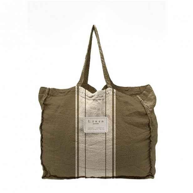 Látková taška Linen Couture Dark Grey, šířka 50 cm